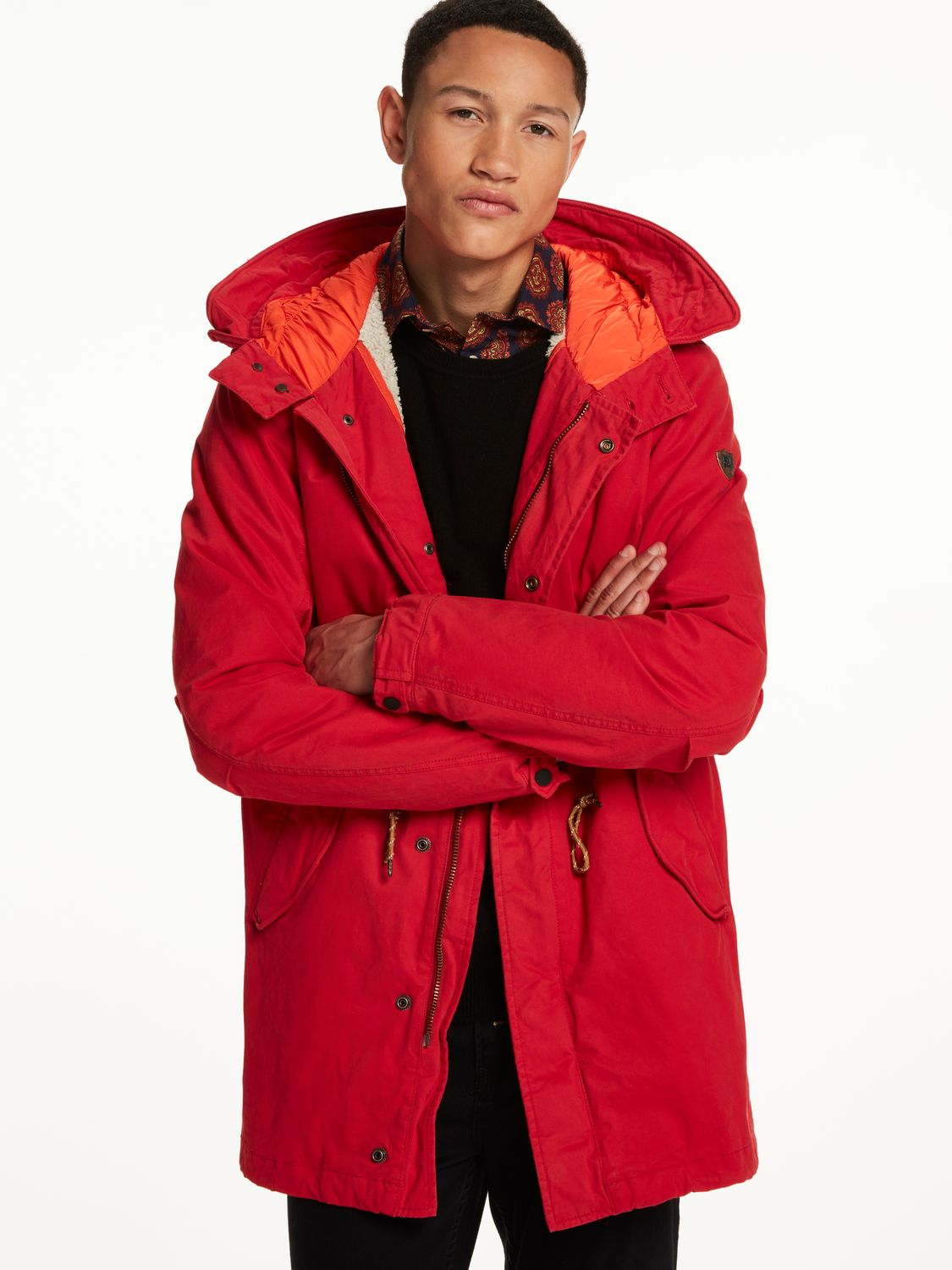 scotch soda teddy lined parka red love it concept. Black Bedroom Furniture Sets. Home Design Ideas