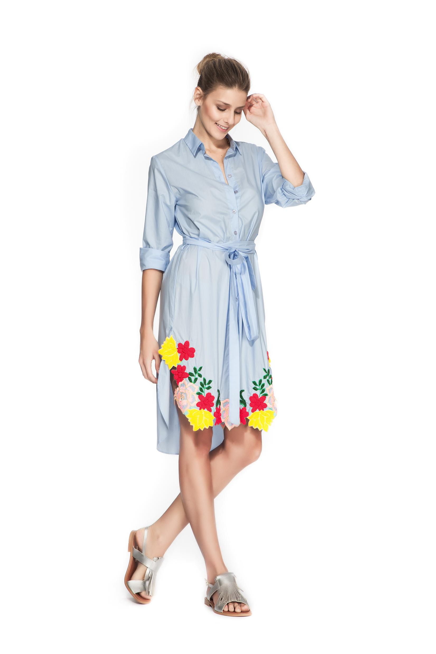 blue floral summer dress loveit concept