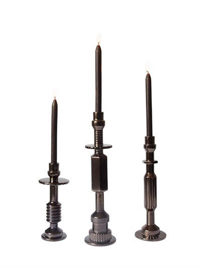 Diesel-Seletti Machine Collection Set of 3 Candlesticks