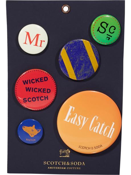 Scotch&Soda Metal Pin Badges