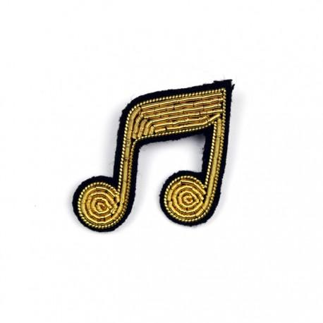 Hand-Embroidered Double Quaver Pin