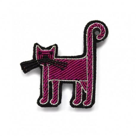 Hand-Embroidered Cat Pin