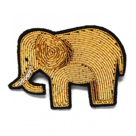 Hand-Embroidered Elephant Pin