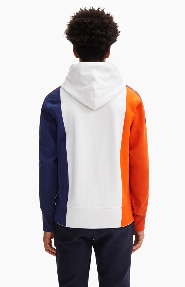 Champion Hand Painted Color Block Hoodie White