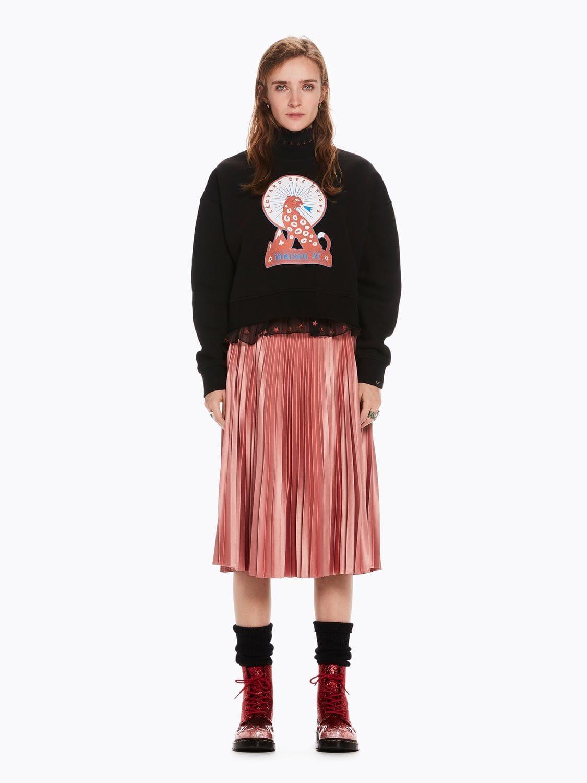 d77d343fd Love-it - Maison Scotch Silky Pleated Skirt Pink