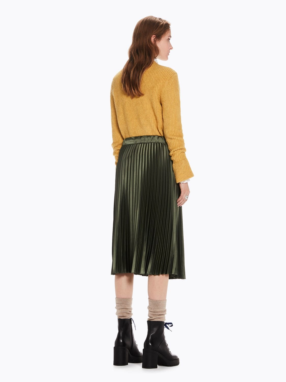 33280bb8d Love-it - Maison Scotch Silky Pleated Skirt Olive