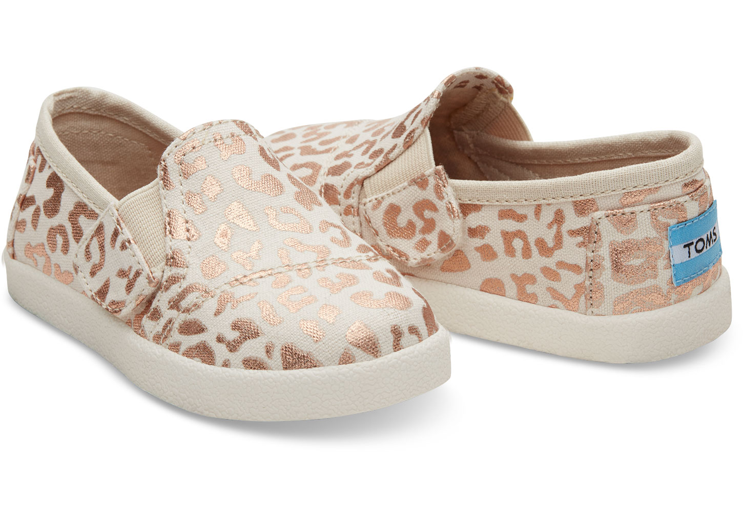 f15a8f7902b Love-it - Toms Tiny Natural Cheetah Foil Avalon Slipons